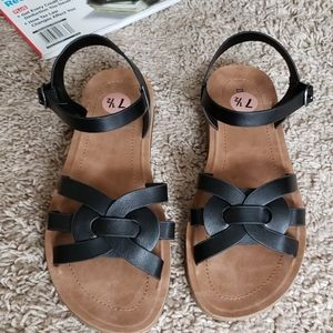 Bamboo ladies sandal